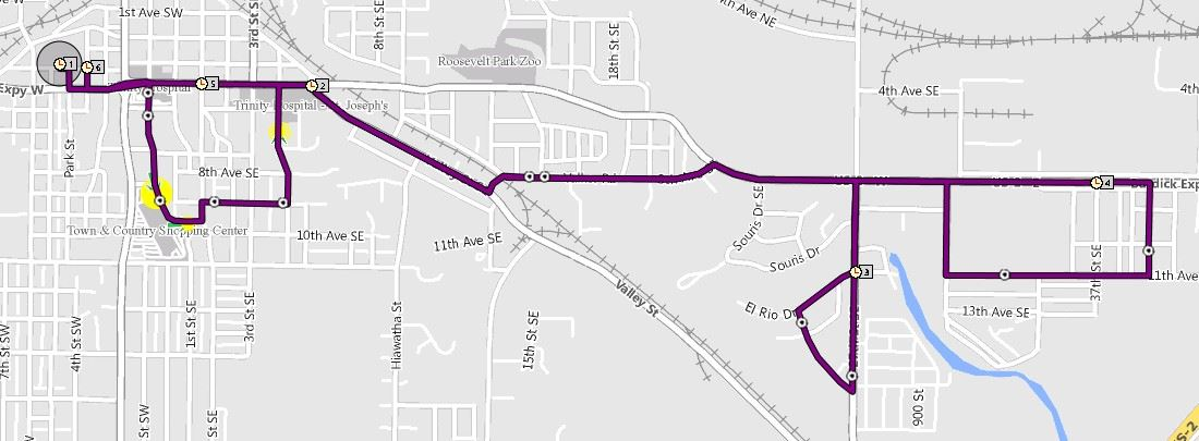 East Route changes June 2017