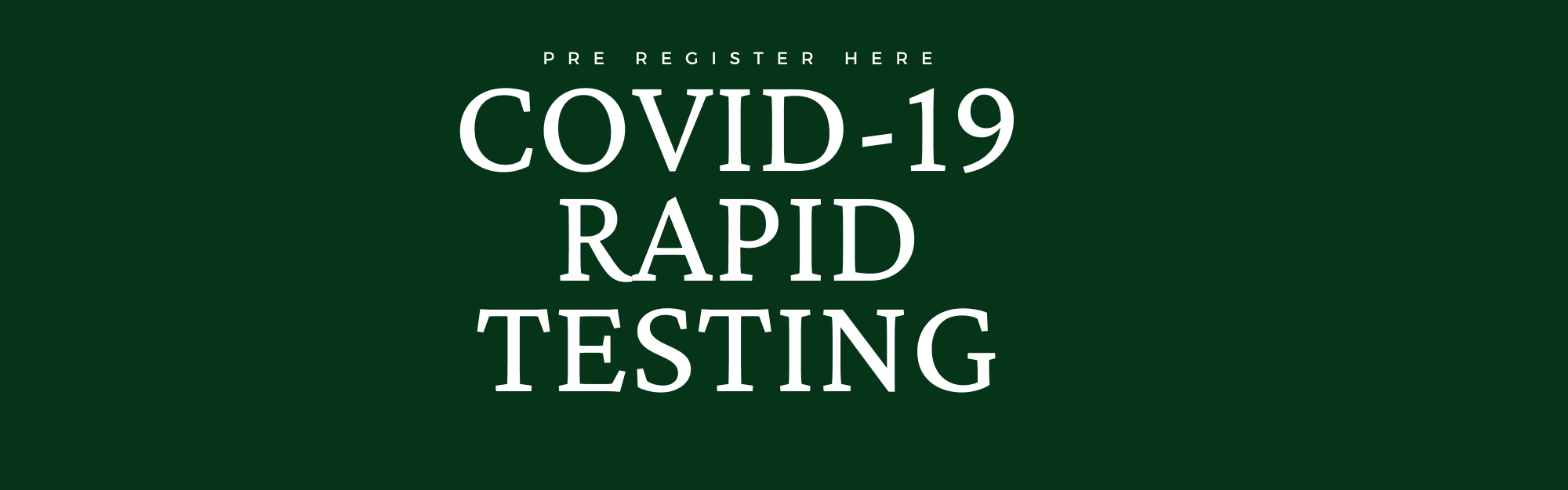 "Image with text ""COVID_19 RAPID TESTING"""