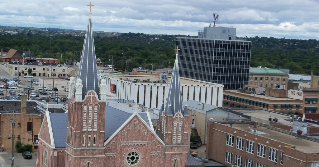 Top of a Minot Church